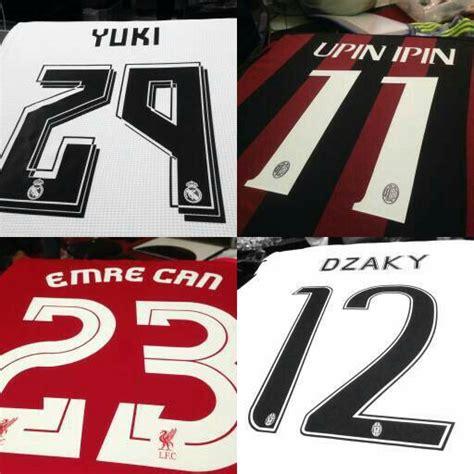 Baju Kaos Bayi Custom Klub Bola Barcelona Tosca Tulisan Bebas custom name rumah jersey