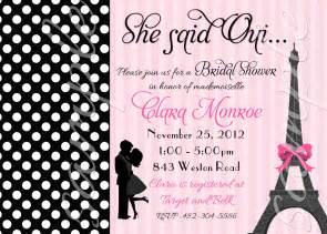 What To Include In A Bridal Shower Invitation by Paris Couple Bridal Shower Or Engagement Invitation 3 To