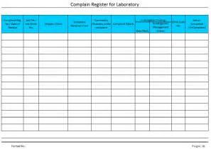 Complaints Register Template complaints register template like success