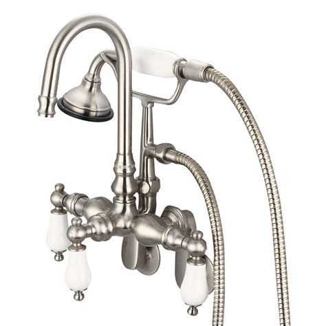 3 Handle Tub And Shower Faucet Brushed Nickel by Water Creation 3 Handle Vintage Claw Foot Tub Faucet With