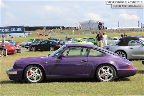 purple porsche 911 purple porsche 911 rs 964 at the silverstone
