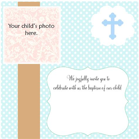 Blank Christening Invitations Design Yourweek F0c5e5eca25e Christening Invitation Template 2