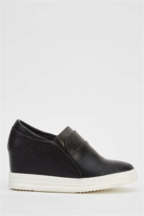 Platform Wedge Slip Ons wedge faux leather slip ons just 163 5