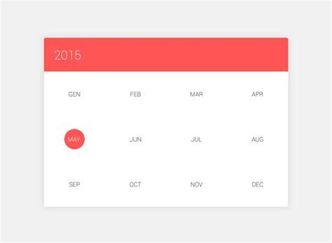 Material Design Calendar Js | css3 jquery quot material design quot calendar uplabs