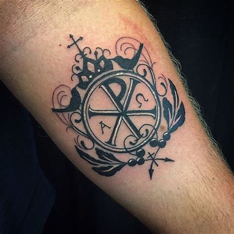 christian tattoo chi rho incredible design black and white chi rho special symbol