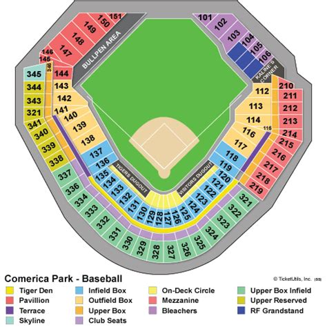 comerica park seating sections detroit tigers tickets 2018 detroit tigers tickets