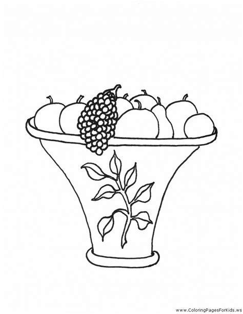 free coloring pages of empty cornucopia