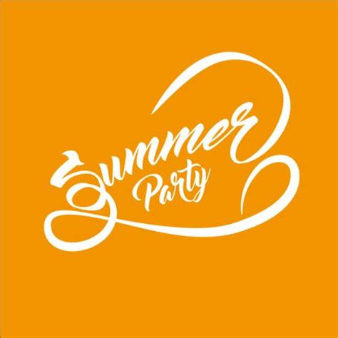 design free text logo summer party text logos design vector 03 vector logo