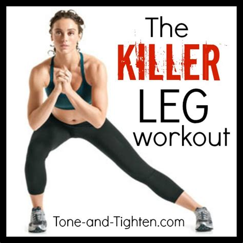 the killer leg circuit workout tone and tighten