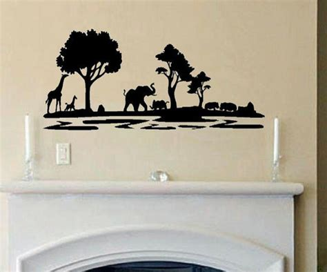 wall stickers and decals vinyl wall decal africa safari by wall decals quotes contemporary wall decals by etsy