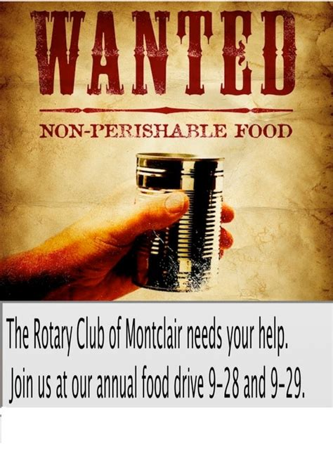 Montclair Food Pantry by Montclair Rotary Seeks Community S Support Collecting
