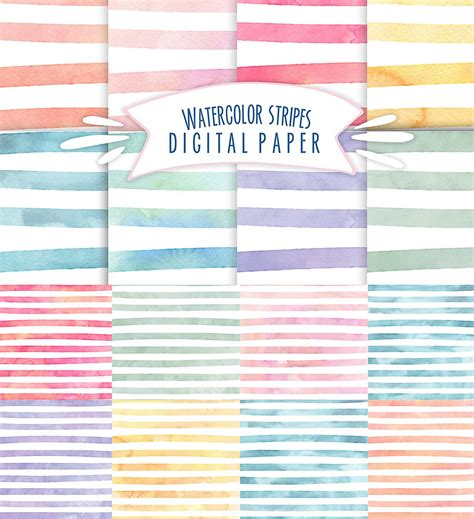 watercolor pattern download digital paper watercolor pattern set free download