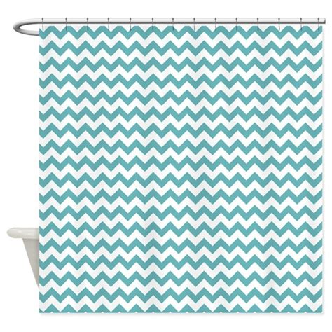 chevron print curtains aqua blue white chevron print shower curtain by