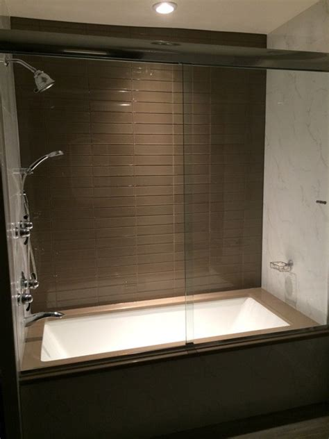 frameless glass bathtub doors soaker tub with custom frameless glass sliding doors