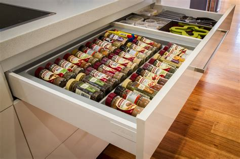 Spice Rack Drawer Organizer Blum Drawer Systems The Kitchen Design Centre