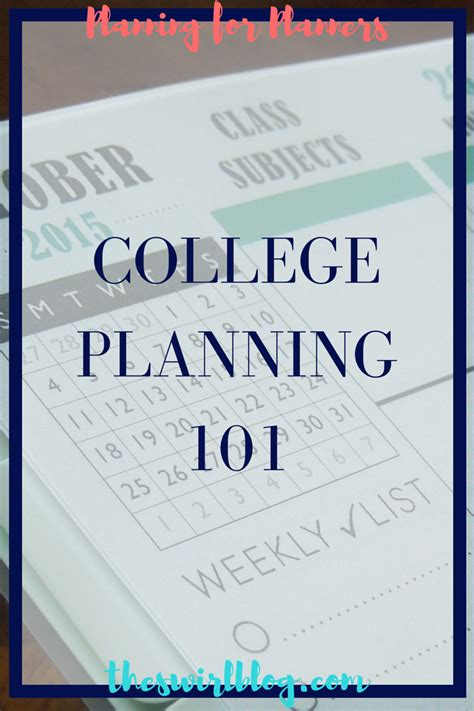 college planning plan with me college planning 101 the swirl