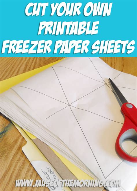 how to make printable fabric with freezer paper tutorial cut your own printable freezer paper sheets