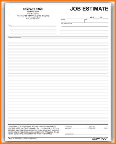 blank estimate form template blank estimate form driverlayer search engine