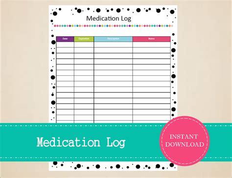medication log template free log templates