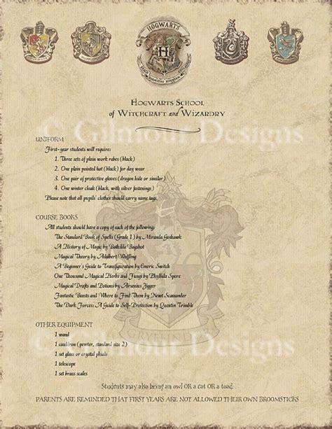 Harry Potter Acceptance Letter Supply List hogwarts supply list template related keywords