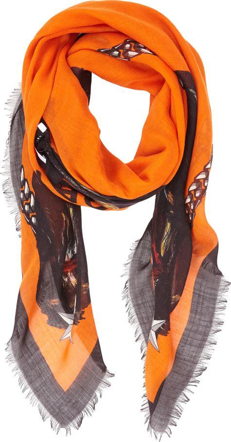 givenchy rottweiler scarf givenchy rottweiler scarf in orange lyst