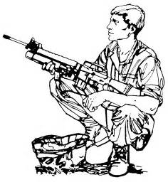 m16 drawing clipart best