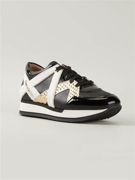 s jimmy choo sneakers lyst jimmy choo sneakers in black