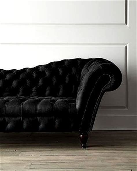 black velvet tufted sofa interior design