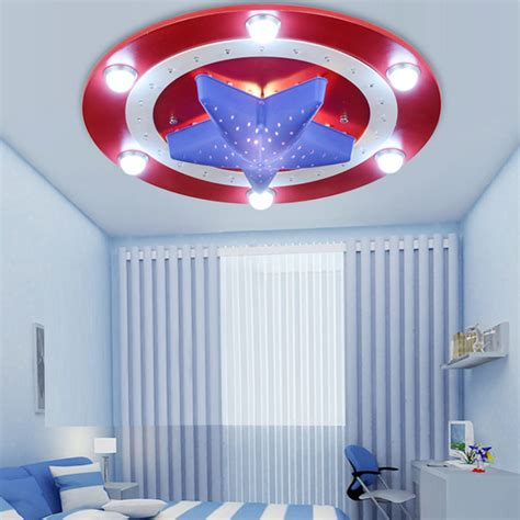 Child Bedroom Light Aliexpress Buy Kid S Room Lighting Captain America Ceiling Lights Child Bedroom