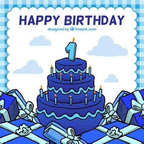 happy birthday kuchen happy birthday karte mit kuchen der kostenlosen