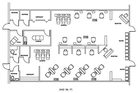 barbershop floor plan layout salon floor plan design layout 2422 square feet salon