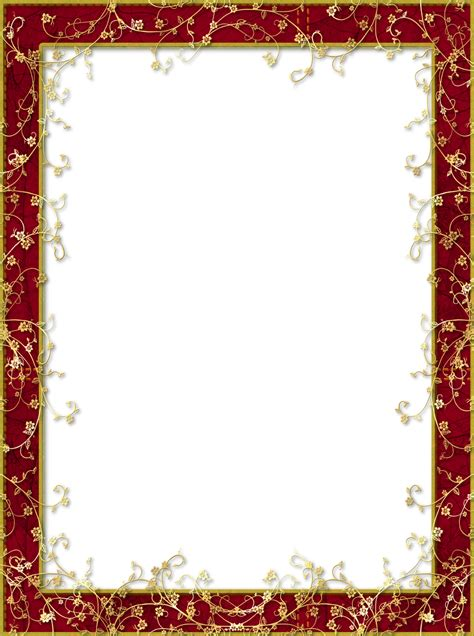 frame design pinterest red transparent png frame with gold flowers borders