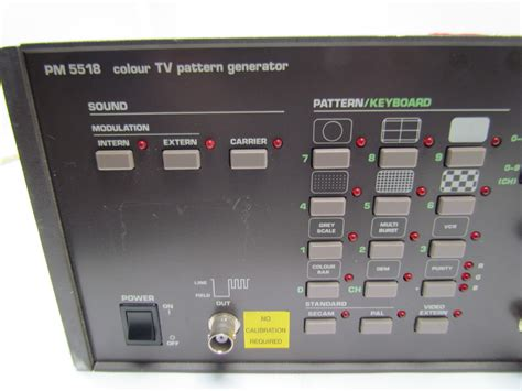 pattern generator in tv philips pm5518 colour tv pattern generator ebay