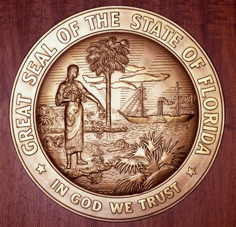 State Of Florida Court Records Florida Memory Great Seal Of The State Of Florida