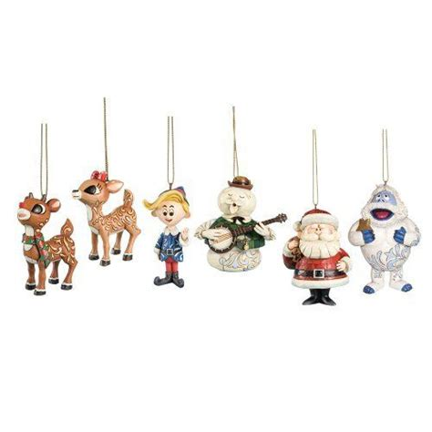 rudolph the red nosed reindeer hanging ornament set with
