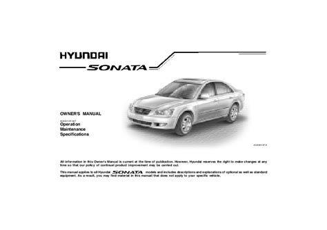 old car owners manuals 1995 hyundai sonata parking system 2005 hyundai sonata owners manual