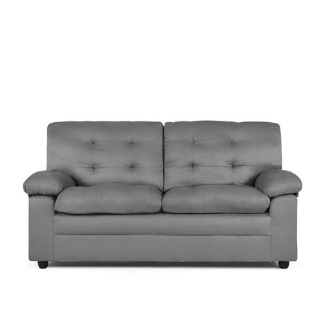 mainstays buchannan sofa black sofas couches walmart com