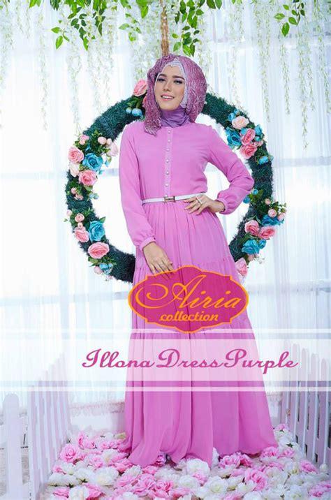 Gamis Cantik Purple illona summer purple baju muslim gamis modern