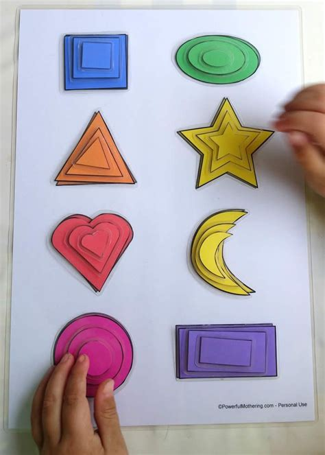 printable shapes crafts printable shape matching and size sorting activity motor