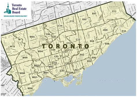 map directions toronto treb map
