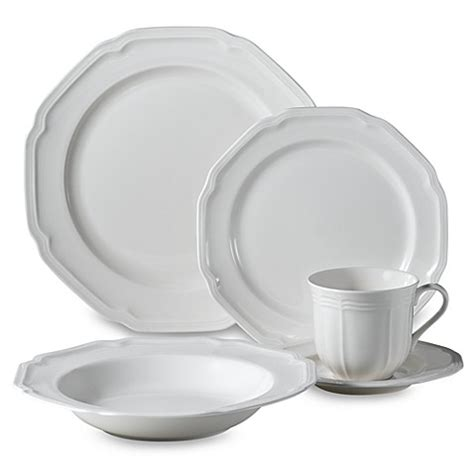 bed bath beyond dishes mikasa 174 antique white dinnerware collection bed bath beyond