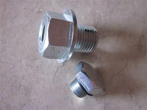 easily repair  oil pan drain plug axleaddict