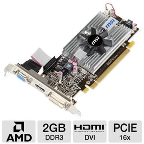 Vga Hd 6570 2gb the next generation msi r6570 md2gd3 lp radeon hd 6570 card 2gb ddr3 pci express 2 1