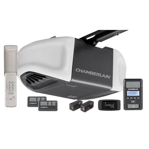 Chamberlains Garage Door Opener Chamberlain 1 25 Hps Belt Drive Battery Backup Smartphone Ready Garage Door Opener With Myq