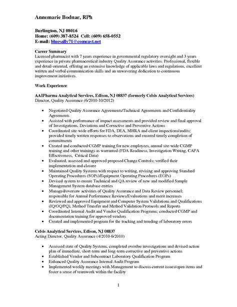 quality assurance resume exles resume for quality assurance manager qa director resume
