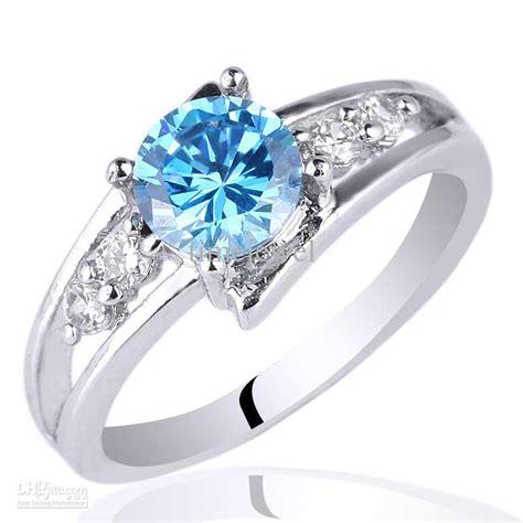 2017 6mm promise ring blue topaz 925 sterling