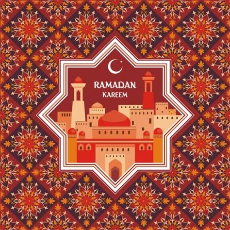 ramadan pattern vector ramadan pattern with greeting card vector 01 free download