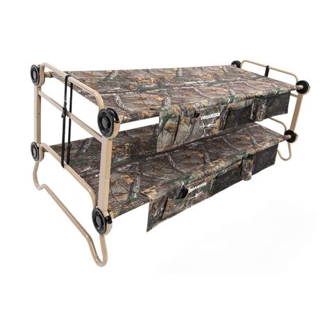 disc o bed cam o cot bunk beds disc o bed cam o bunk realtree xtra 82 in xl bunk beds