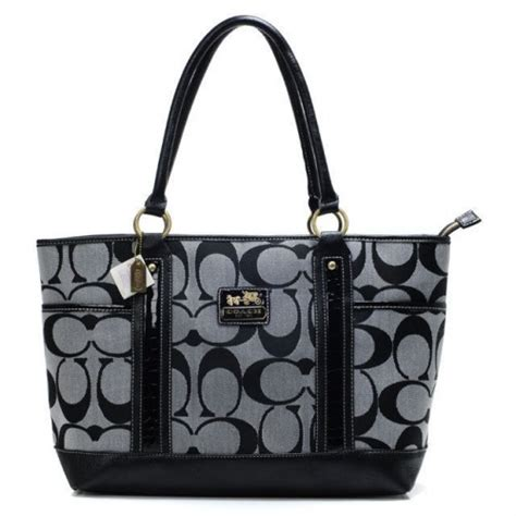 couch factory coach madison logo in signature large coffee totes bqw