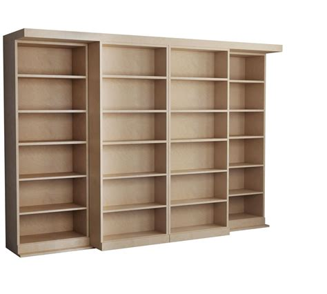 hidden murphy bed bookcase wall unit rustic interior design with unfinished wood bookcases in